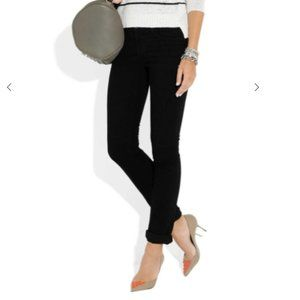 J Brand Low Rise Pencil Leg Black Denim Jeans